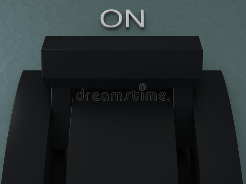 Disjoncteur branché illustration stock