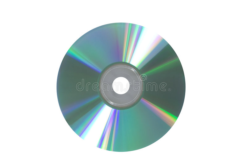 Disk. Compact disk isolated on white stock images