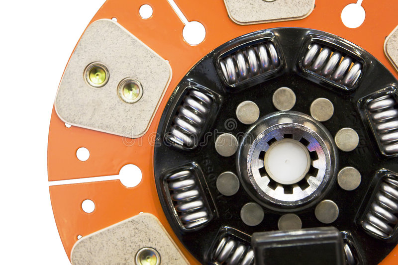 Disk of an automobile clutch royalty free stock photo