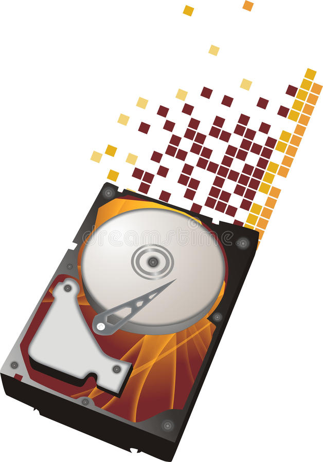 Disk corrupt royalty free stock images