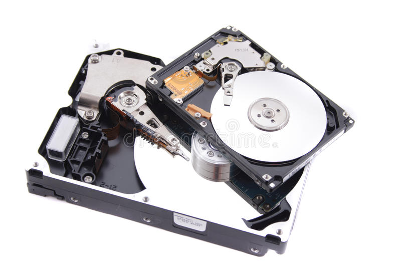 Disk drive. Isolated on the white background stock photos