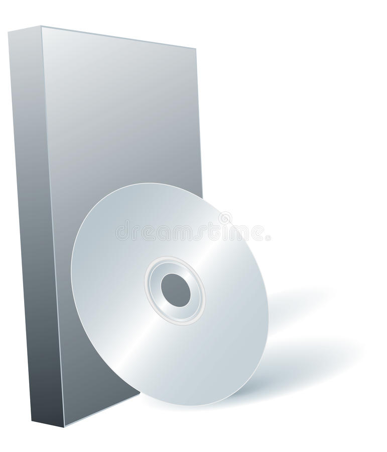 Free Disk DVD And Box. Royalty Free Stock Photo - 9701725