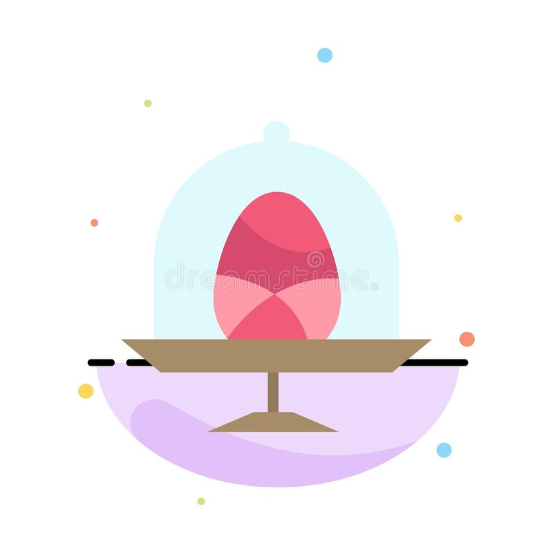 Disk, Egg, Food, Easter Abstract Flat Color Icon Template royalty free illustration