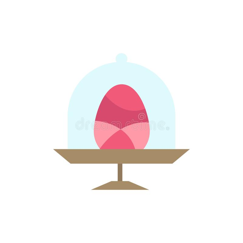 Disk, Egg, Food, Easter  Flat Color Icon. Vector icon banner Template royalty free illustration