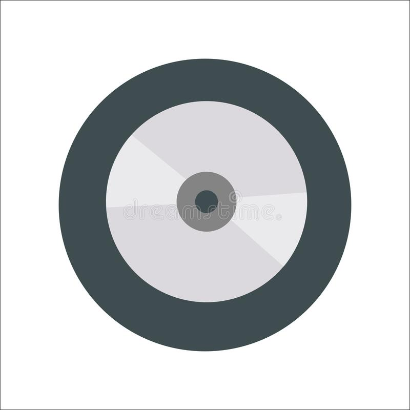 Disk flat icon Vector royalty free illustration