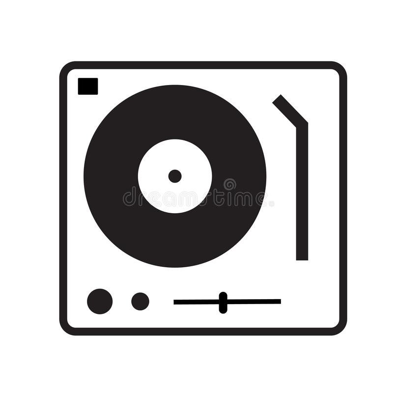Disk Jockey turntable icon on white background. flat style. Disk Jockey turntable icon for your web site design, logo, app, UI. Gramophone symbol. dj console vector illustration