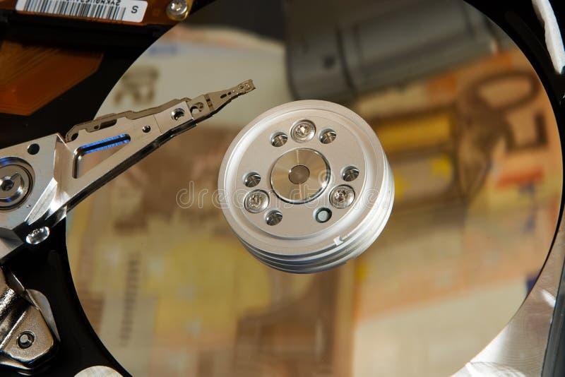 disken sparar avståndstid arkivbilder