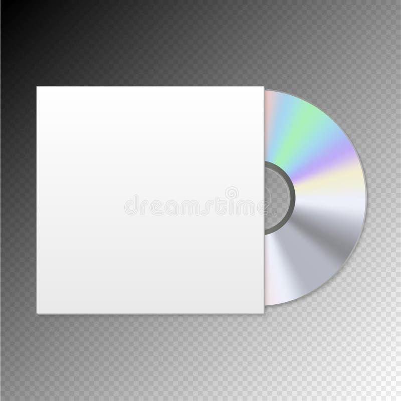 Diskettåtlöje upp fall Dvd mellanrumsCD-SKIVA Programvaruvideo eller ljudsignal vektor illustrationer