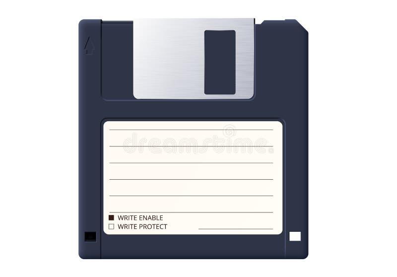 Diskett eller diskett är ett gammalt medium för att lagra information på återdatorer royaltyfri illustrationer