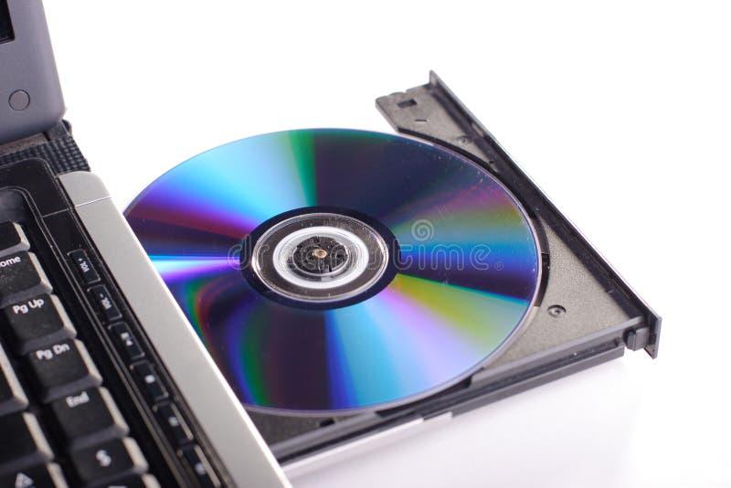 diskettdvdbärbar dator royaltyfria bilder