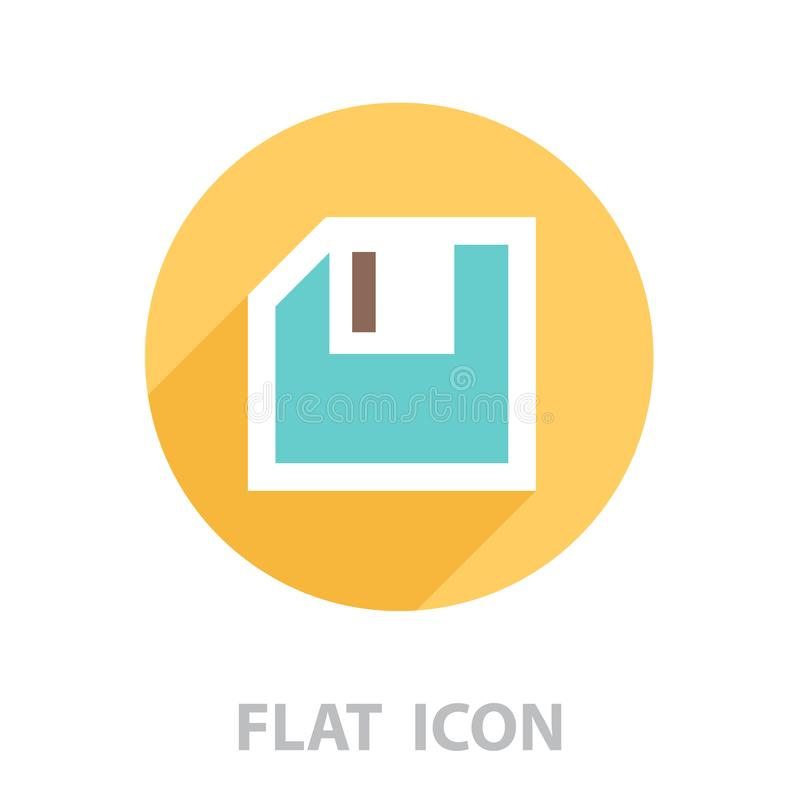 Diskette icon. vector illustration royalty free illustration