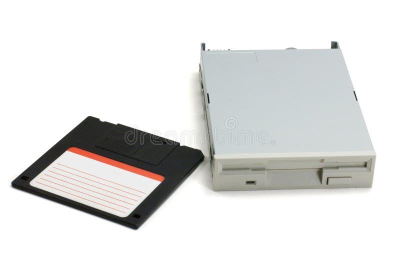 Diskette und Laufwerk stockfotos