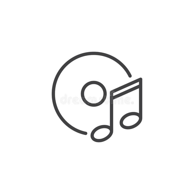 Diskette und Musikanmerkungsentwurfsikone lizenzfreie abbildung