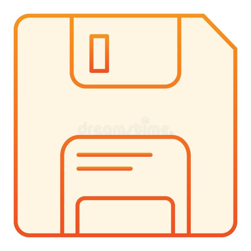 Diskette vlak pictogram Gegevens oranje pictogrammen in in vlakke stijl De stijlontwerp van de geheugengradi?nt, dat voor Web en  vector illustratie