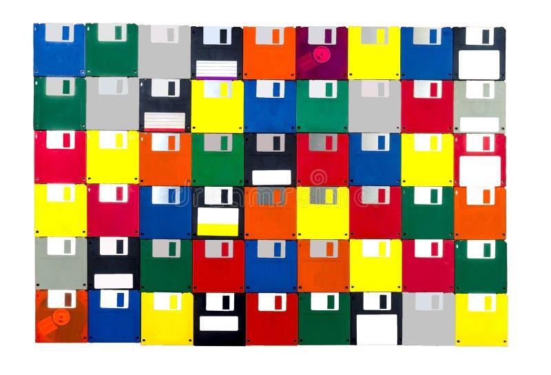 Disketteachtergrond Alle Voorzijden royalty-vrije stock afbeelding