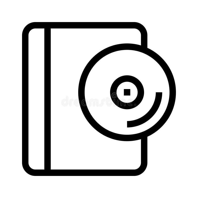 Disketten-Buchlinie ico lizenzfreie abbildung