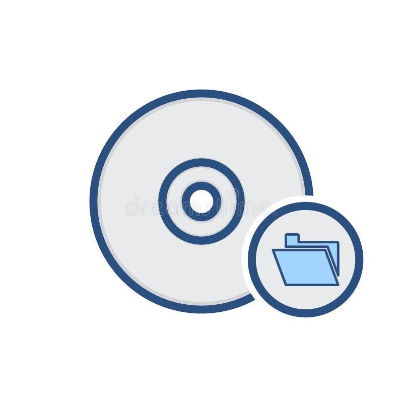 Diskettenscheibendokumenten-Antriebsordnerspeicherikone stock abbildung