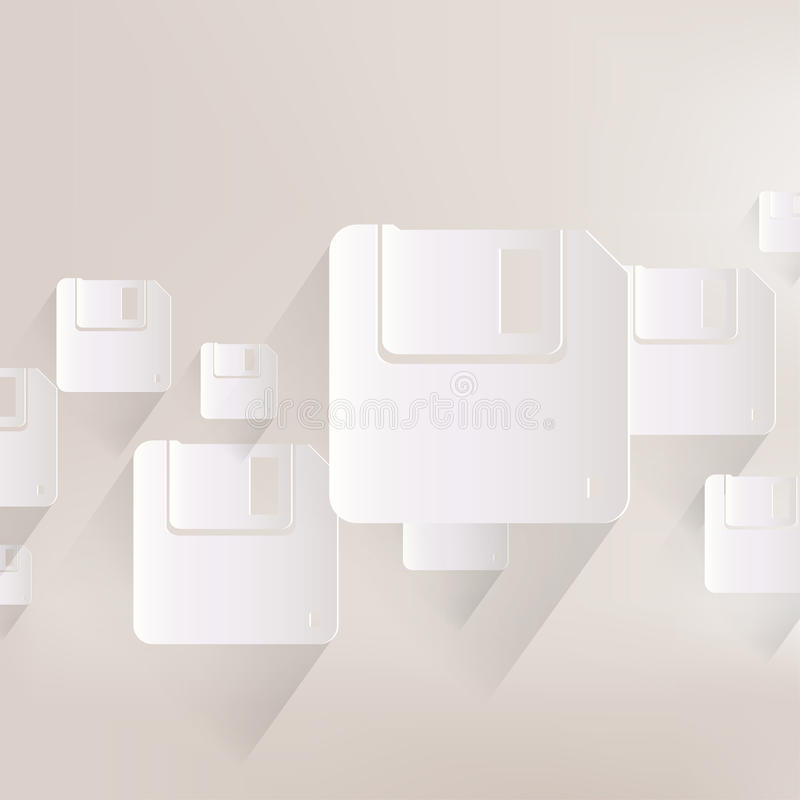 Diskettepictogram stock illustratie