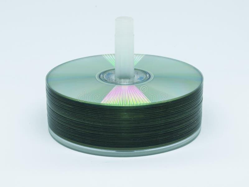 Disketter för DVD-CDlagring som staplas upp royaltyfri fotografi
