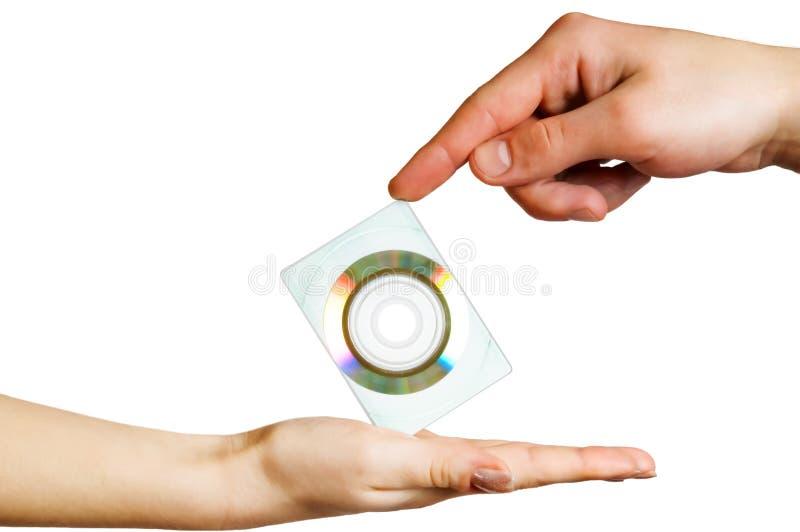 disketthänder rymmer två royaltyfria bilder
