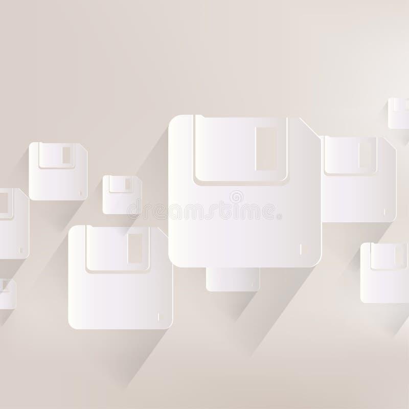 Diskettsymbol stock illustrationer