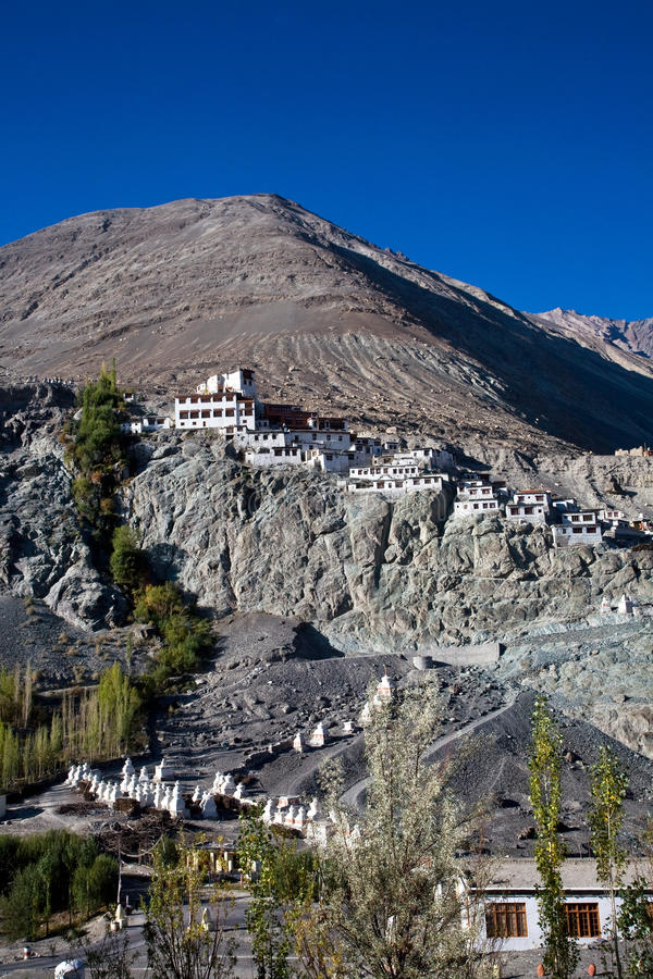 Diskit monaster, Nubra dolina, Leh-Ladakh, Jammu i Kaszmir, India zdjęcia royalty free