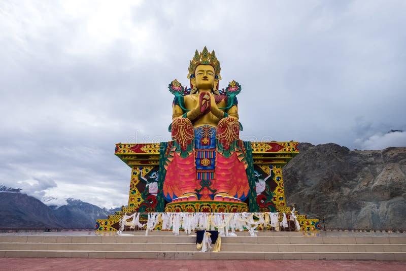 Diskit monaster, Nubra dolina, północny India zdjęcie stock