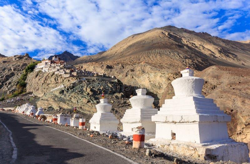 Diskit monaster w Nubra dolinie, Ladakh, Jammu i Kaszmir, Ind obraz royalty free