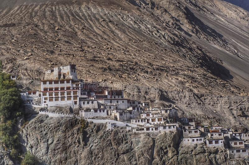 Diskit Temple Leh Ladahk. Diskit Temple on the mountain Leh Ladahk stock photography