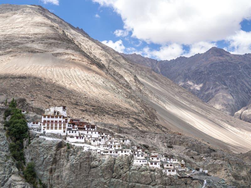 Diskitklooster in Leh, Ladakh, India royalty-vrije stock afbeelding