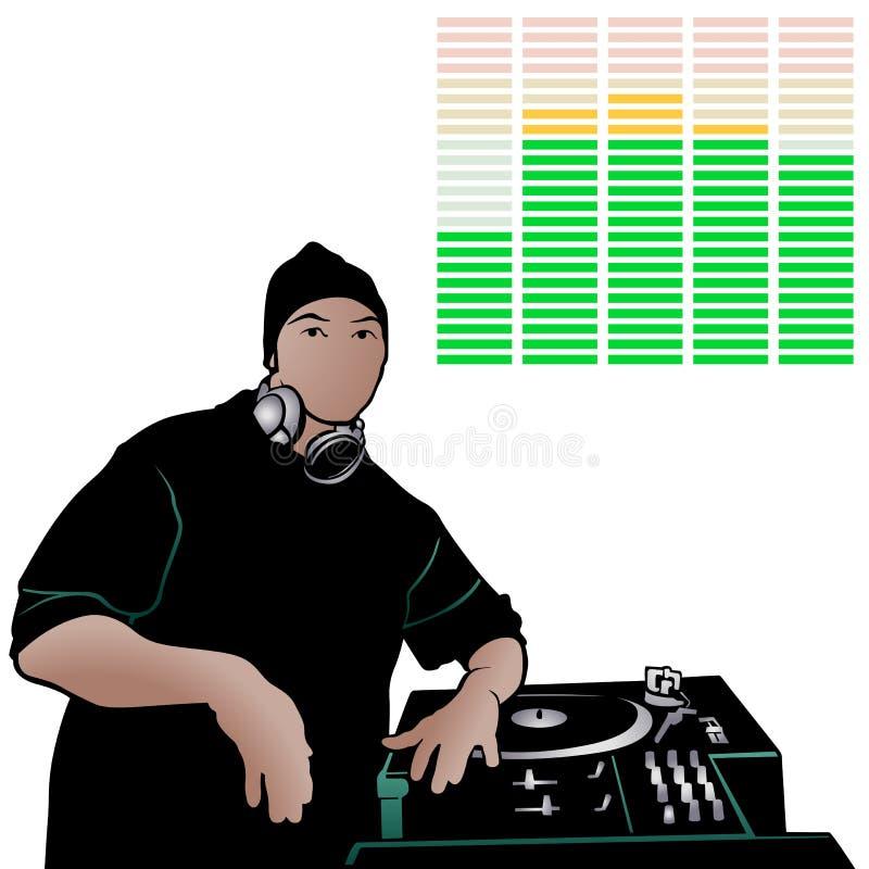 Diskjockey 04 lizenzfreie abbildung
