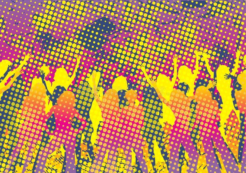 disko royaltyfri illustrationer