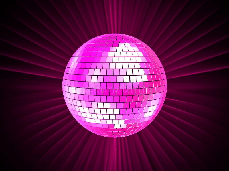 disko för boll 3d royaltyfri illustrationer