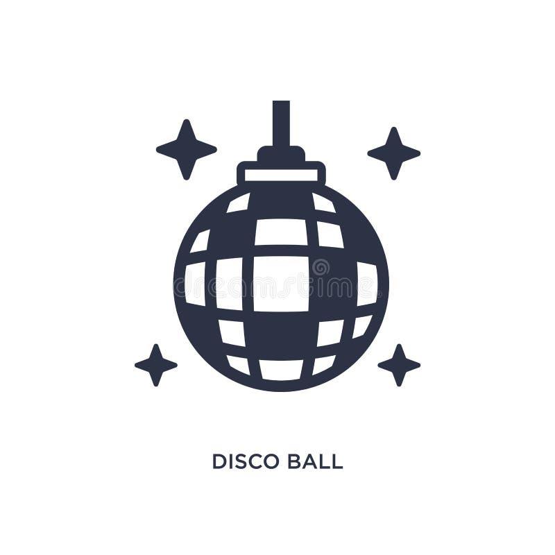 diskobollsymbol på vit bakgrund Enkel beståndsdelillustration från begrepp för fri tid royaltyfri illustrationer