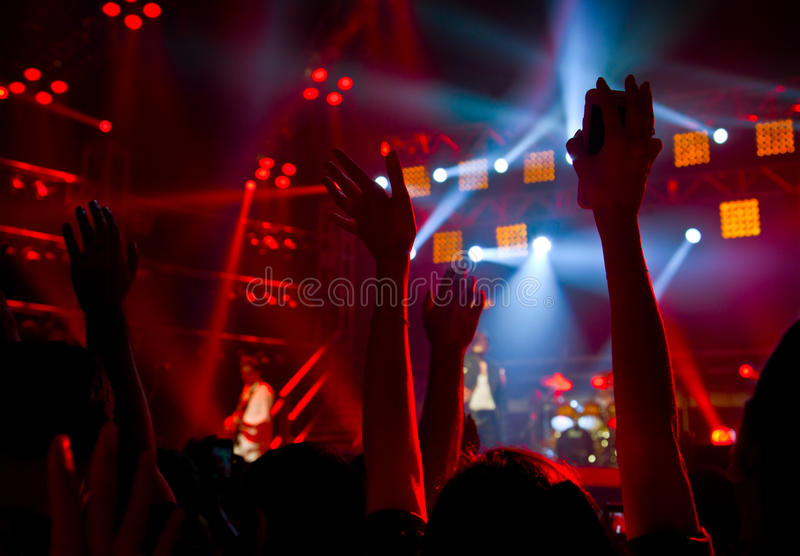 Diskodeltagarekonsert royaltyfri bild