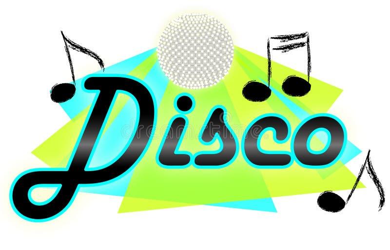 diskoeps-musik stock illustrationer