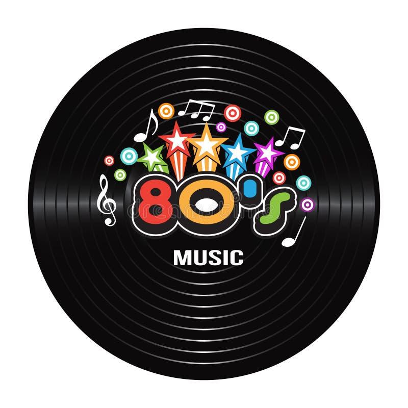 Diskographie der Musik 80s lizenzfreie abbildung