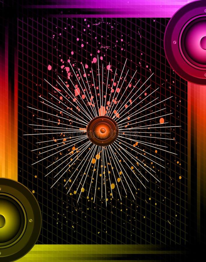 Diskoklubbaflayer vektor illustrationer