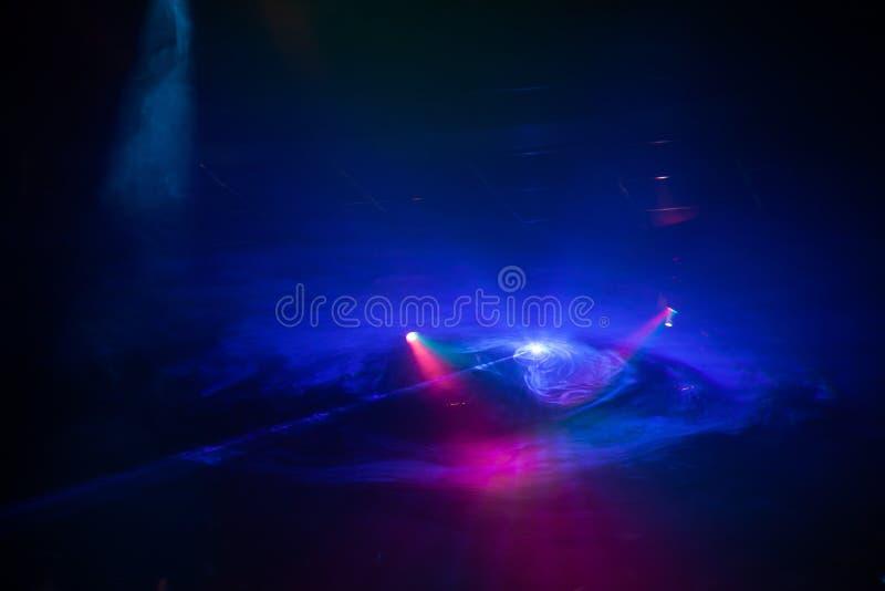 Diskoljusshow, etappljus royaltyfri foto