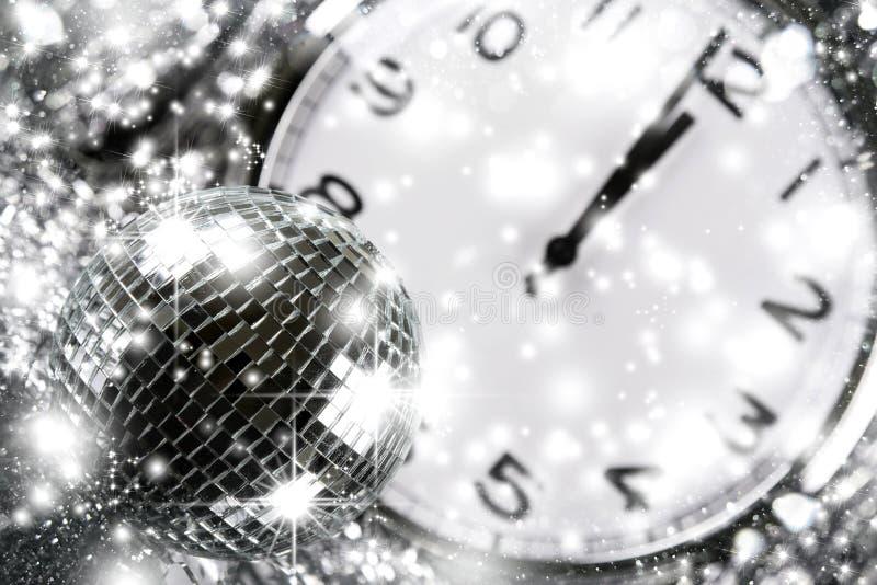 Diskospegelboll nytt år royaltyfria bilder