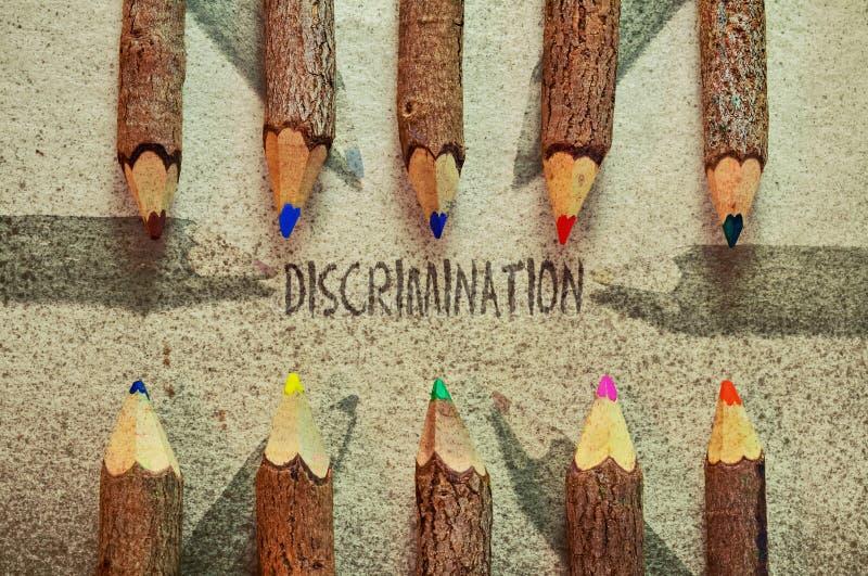 diskriminering stock illustrationer