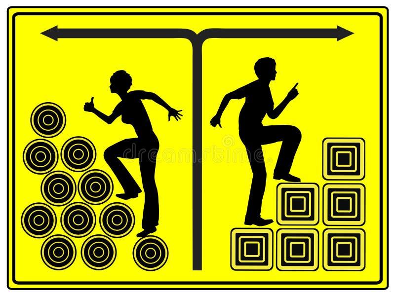 Diskriminering på arbete vektor illustrationer