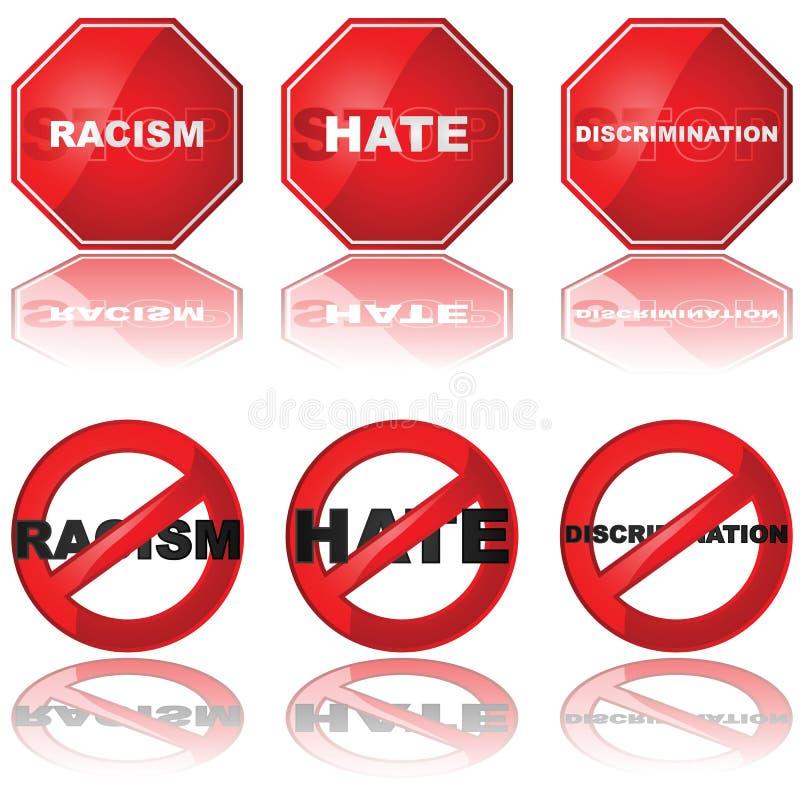 diskrimineringstopp royaltyfri illustrationer