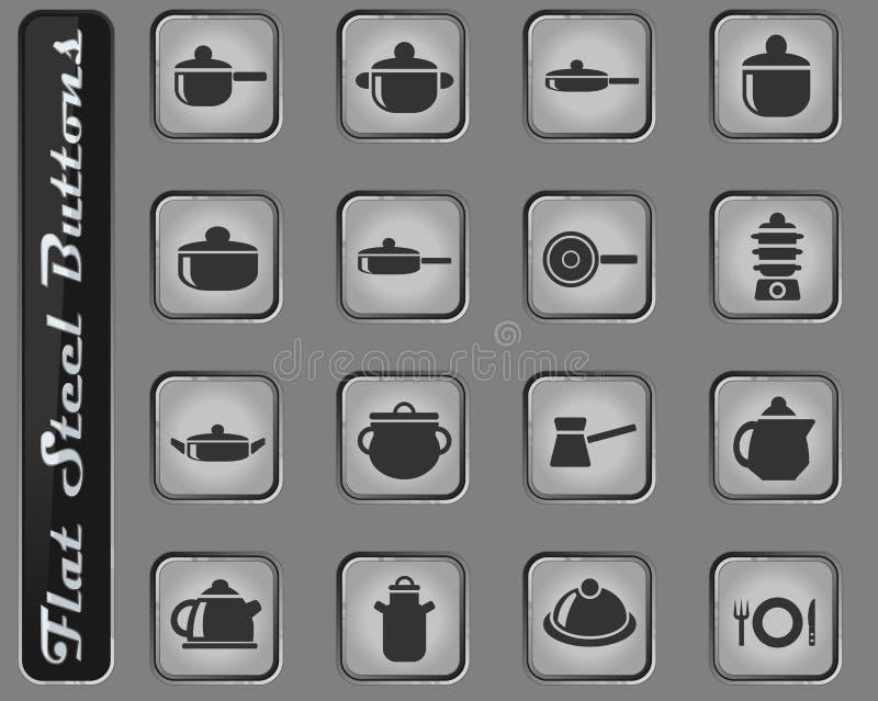 Disksymbolsuppsättning royaltyfri illustrationer