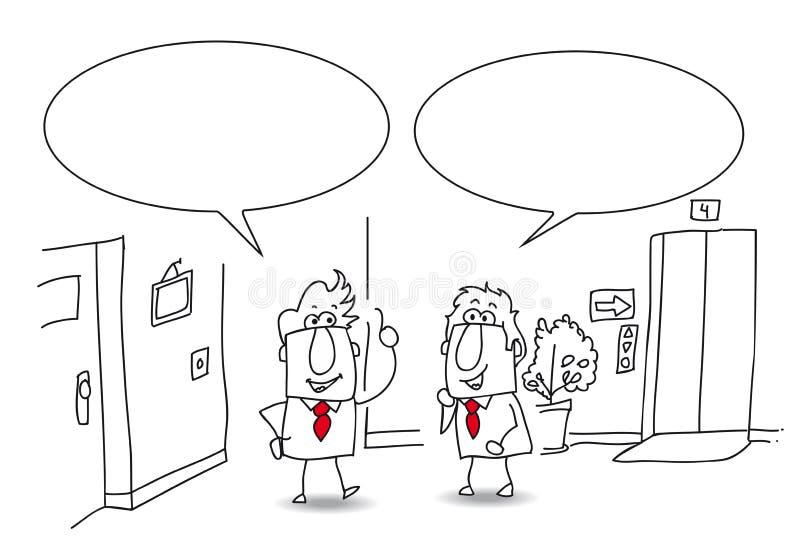 Diskussion im Büro lizenzfreie abbildung