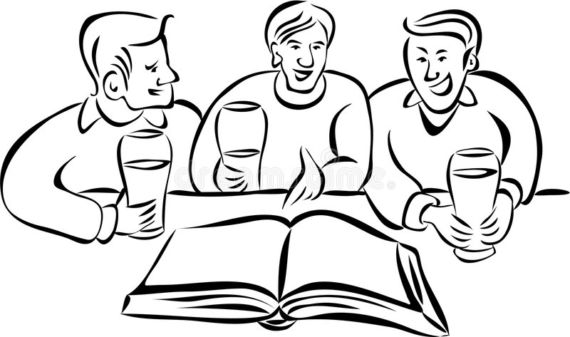 Diskussionsgruppe vektor abbildung