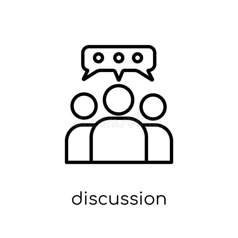 Diskussionsikone von der Sammlung stock abbildung