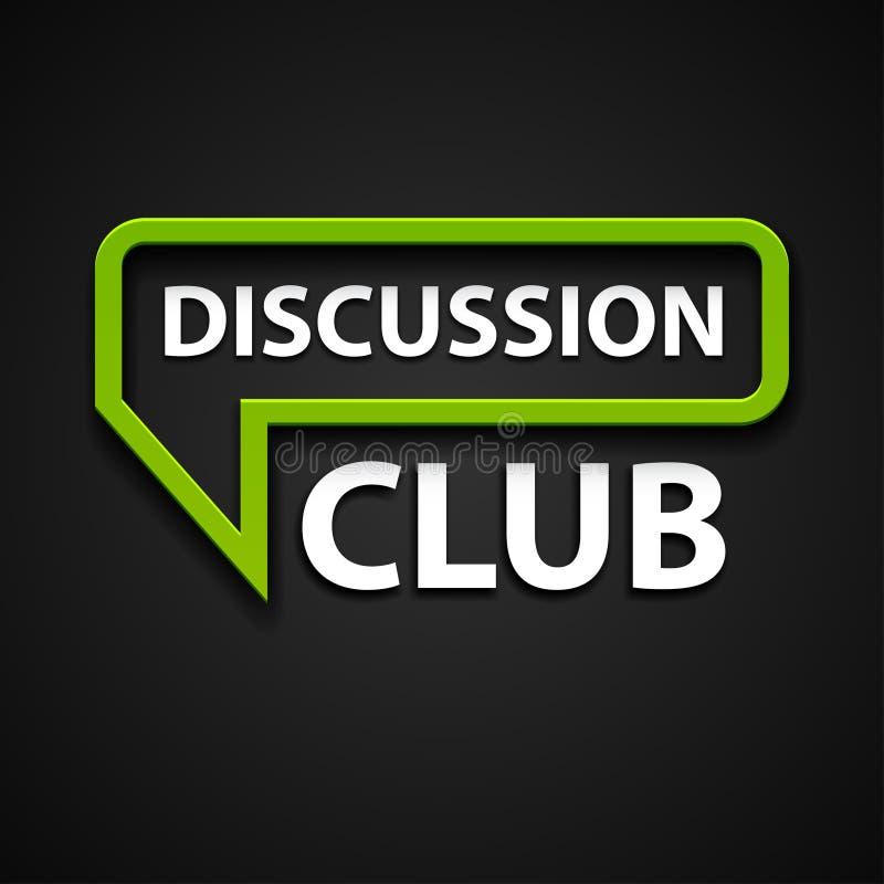 Diskussionsklubbasymbol vektor illustrationer