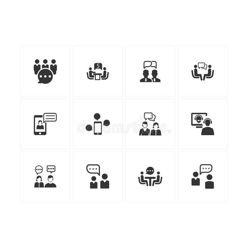 Diskussionssymboler - Gray Version vektor illustrationer