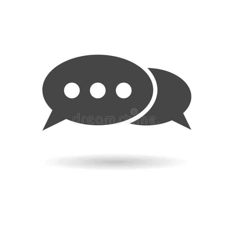 Diskutera samtalsymbolen royaltyfri illustrationer